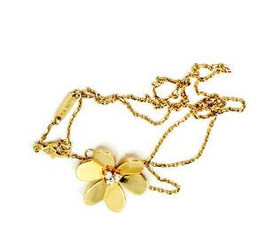 VAN CLEEF & ARPELS 'FRIVOLE' YELLOW GOLD DIAMOND NECKLACE