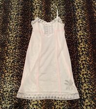 Free People Intimately Lace Slip Dress Womens XS Light Pink Lingerie Sheer