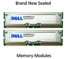 2 New Sealed Modules: D9461P.D Dell 256MB Rambus Non ECC PC 800 800Mhz Memory