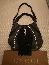 4794b3e2deaf Gucci Handbag Babouska Large Studded Leather & Suede Messenger Shoulder