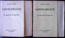 Octave Aubry - Sainte-Hélène - 2 vols sur pur fil lafuma - dédicace