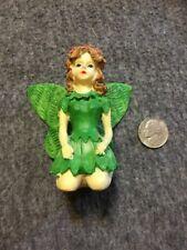 Green Lucky Fairy Figurine Unmarked