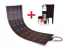 100W 12V flexibel Solarpanel Boot Wohnmobil Camping +Kleber