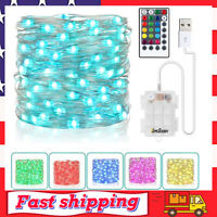 33Ft 100 LEDs Fairy String Lights Battery Operated & USB Plug-in for Christmas