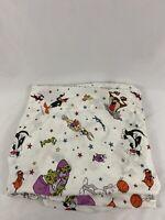 Vintage Space Jam 1996 Warner Bros Michael Jordan Looney Tunes Fitted Bed Sheet