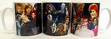 David Bowie Mug Collage David Bowie Tribute Ceramic Mug Hand Decorated in UK