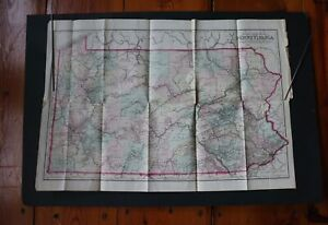 O. W. Gray & Son 1876 (copyright) Pennsylvania Railroad and County Map