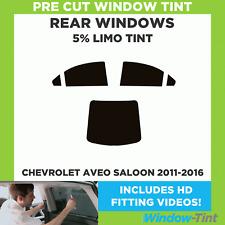 Pre Cut Window Tint - Chevrolet Aveo 4-door Berlina 2011-2016 - 5% Limo Rear