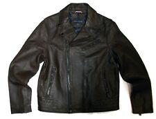 Tommy Hilfiger mens dark Brown LEATHER Jacket size Medium...