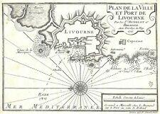 Antique map, Plan de la Ville et Port de Livourne