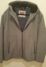 Men's Levi's Quilted lined Hooded Jacket XXL ~ Heather Grey