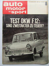 Auto Motor Sport 8/1963, Test: DKW F12,