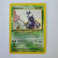 Pokemon Heracross Holo Foil LP 1st Edition 6/111 TCG Trading Card Neo Genesis