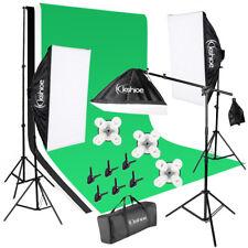 New Muslin Backdrop Stand Set Photo Studio Photography Lighting Kit Softbox