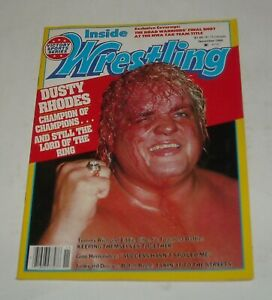 1984 INSIDE WRESTLING MAGAZINE DUSTY RHODES BLOODY FACE COVER ROAD WARRIORS