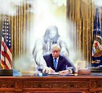 PRESIDENT DONALD TRUMP PRAYING WITH JESUS WHITE HOUSE 8X10 PHOTO POSTER PICTURE