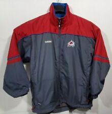 CCM Colorado Avalanche NHL Polyester Full Zip Long Sleeve Windbreaker Jacket XL