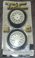 TRC 1/10 Wheel Whites with Foam Tires (fits Tamiya / HPI / Kyosho / Yokomo) NEW