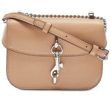 DKNY Ink Mini Leather Flap Crossbody Purse / Shoulder Bag $178, Beige
