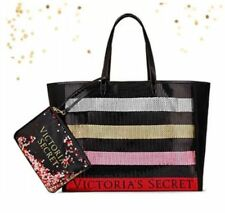 NEW Victoria's Secret 2017 Black Friday Bling Tote Bag & Clutch Sequin Red Gold