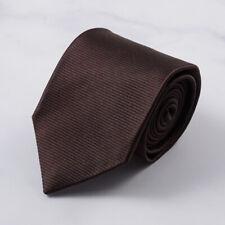 Isaia 7-Fold Dark Chocolate Brown Woven Twill Silk Tie