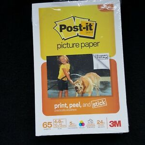 """3M Post-it Sticky Picture Paper SP4665 65 Sheets Matte New 4"""" x 6"""""""