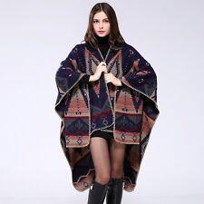 Women Boho Oversized Sweater Blanket Poncho Wrap Knit Cardigans Cloak Shawl