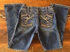 Silver Women's Thick Stitch Flap Pockets Suki Surplus Bootcut 30X30