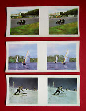 WEETABIX  3  COLLECTABLE 1960's  3-D VIEWER CARDS THRILL CARDS  No's 2 - 21 & 24
