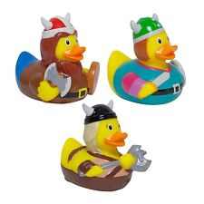 Viking Warrior Rubber Duck Set of 3 Bathtime Toys Novelty Bath Play Collectables