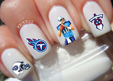 Tennessee Titans Nail Art Stickers Transfers Decals Set of 32
