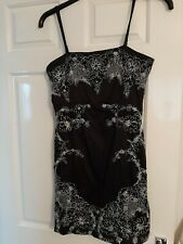 Cotton Club Size 12 Black and Silver embellished sleeveless mini dress PARTY!