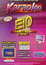 Karaoke Chartbuster Essential 450 Songs SD-Card Vol-10,Country,Standars,R&B,Rock
