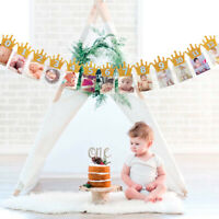 1st Baby Birthday 1-12 Month Photo Banner Garlands Monthly Bunting Decor Comely