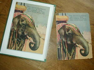 """VINTAGE JIGSAW INDIAN ELEPHANT  -  """"give away"""" with vintage child's book  WOODEN"""