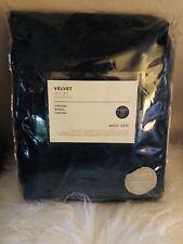 West Elm Velvet Blackout Curtain 48 X 84 NWT Regal Blue