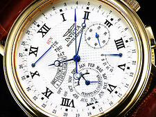 Invicta 2731 Minute Repeater Perpetual Calendar Alarm 23K Gold IP Sapphire Watch