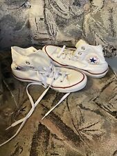 Converse All-Star High Top Sneakers Women 8 White Chuck Taylor Classic Shoes