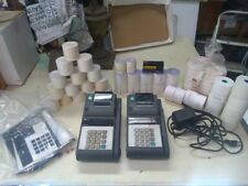 2 Veriphone Tranz 420 Porable Payment System Machines W Thermal Tape Supplies