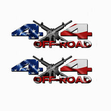4X4 American Flag OFF ROAD AR-15 Truck Bed DECALS universal fits all trucks 184