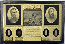 The Battle of Atlanta...Sherman vs Hood...Union & Confederate Items with COA
