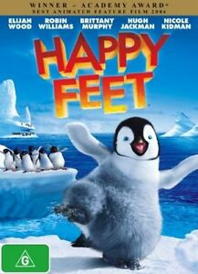 HAPPY FEET DVD ANIMATED (Robin Williams classic kids) with 3d picture bonus