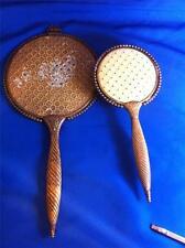Antique Vanity Brush & Mirror