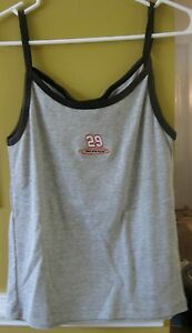 KEVIN HARVICK #29 LADIES STRAP TANK TOP GREY SIZE LARGE NEW W/TAG CHASE