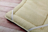 ORTHOPEADIC THICK MERINO WOOL PERUGIANO NATURAL Bed Mattress Topper ALL SIZES