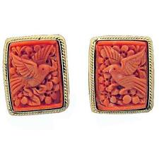 ESTATE 14K GOLD CORAL EARRINGS