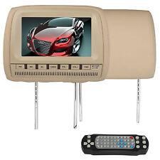 "Black HEADREST 9"" Inch LCD CAR MONITOR DVD PLAYER FM Transmitter Controller Hote"