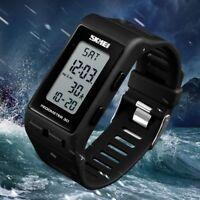 Skmei Mens Casual Reloj Digital Sport Elegante muñeca reloj podómetro calorías