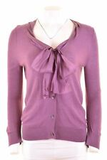DKNY Womens Cardigan Sweater Size 10 Small Purple Silk  LB06