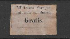 SWITZERLAND - GRATIS SPECIAL POST MILITARY VIGNETTE - CAT.VAL 200e - LIGHT RUST